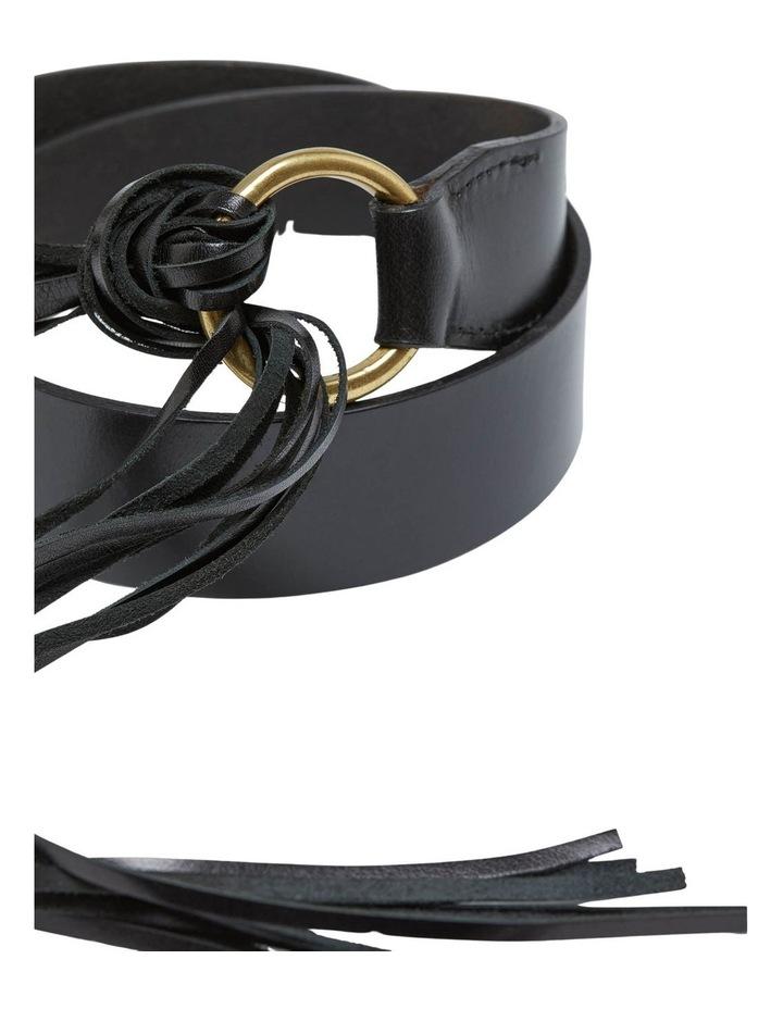 Mika Leather Fringe Belt image 2