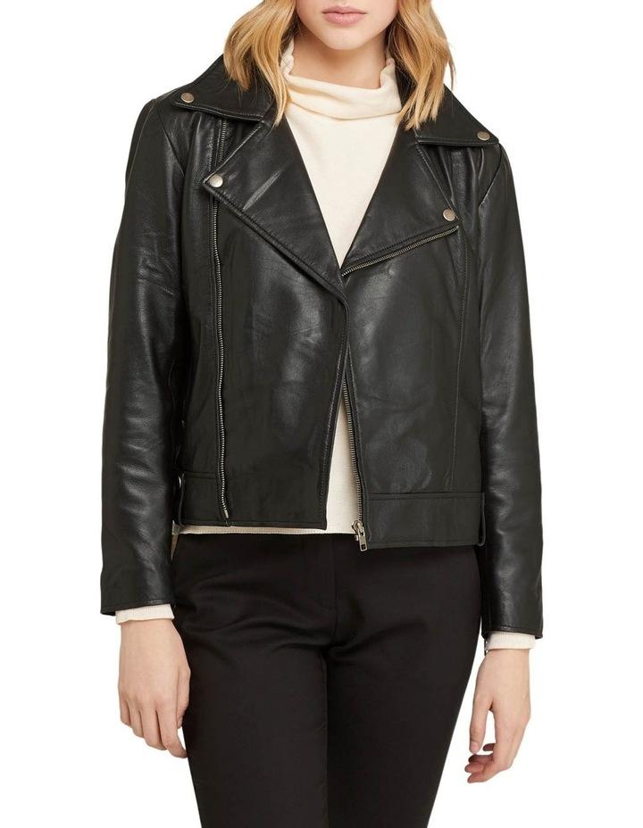 Zoe Boxy Leather Jacket image 1