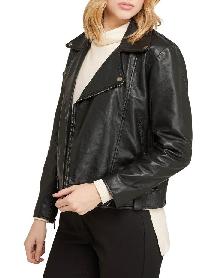 Zoe Boxy Leather Jacket image 2