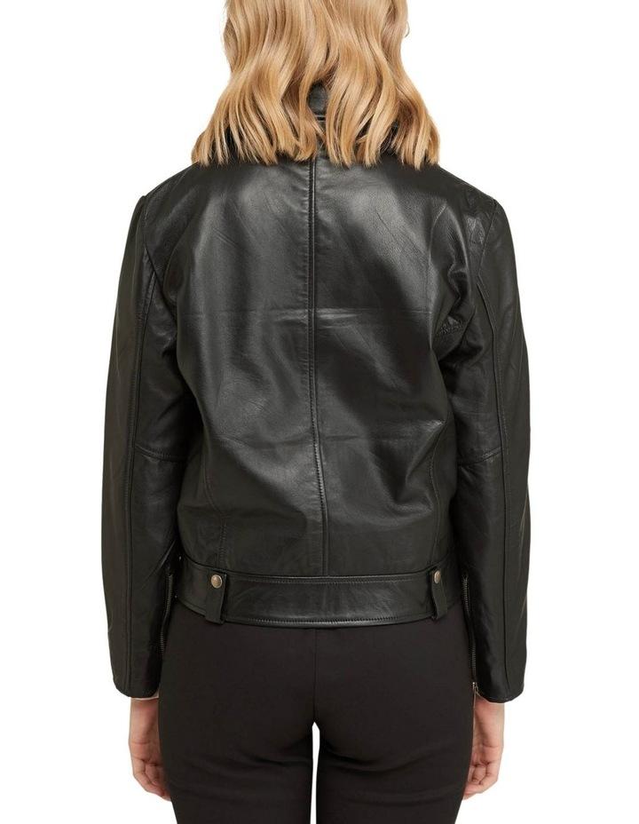 Zoe Boxy Leather Jacket image 3