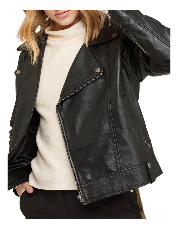 Zoe Boxy Leather Jacket image 4