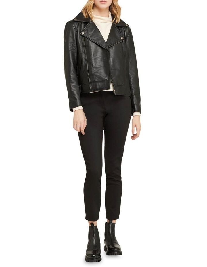 Zoe Boxy Leather Jacket image 5