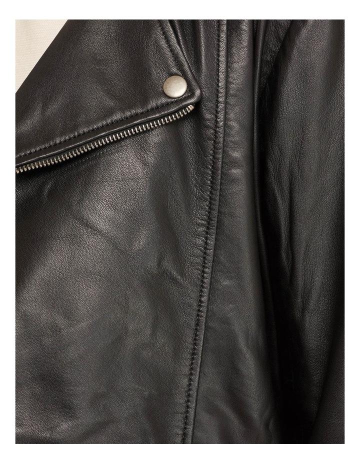 Zoe Boxy Leather Jacket image 6