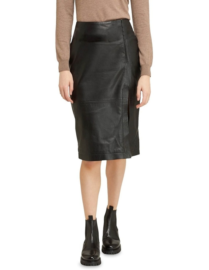Regina Leather Belted Skirt With Removable Belt image 1