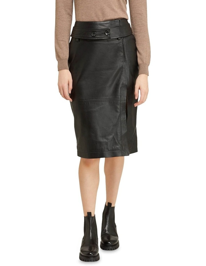 Regina Leather Belted Skirt With Removable Belt image 2