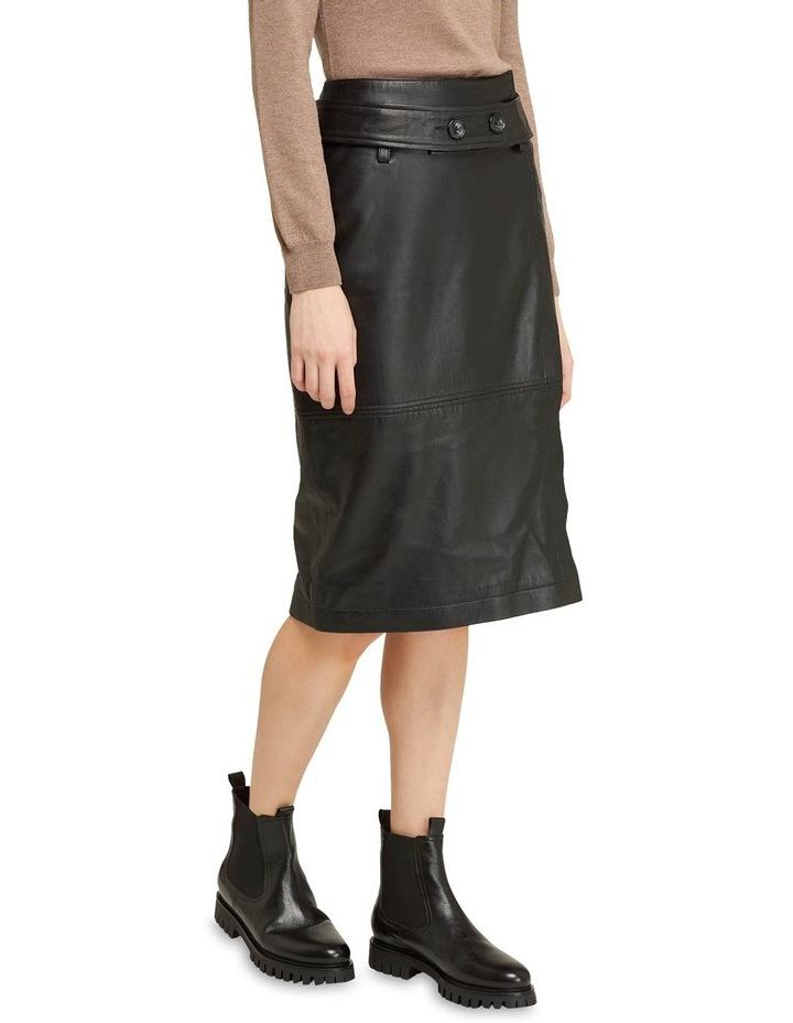 Regina Leather Belted Skirt With Removable Belt image 4