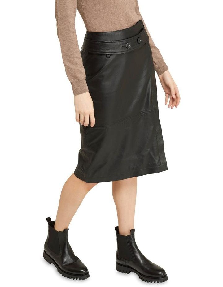 Regina Leather Belted Skirt With Removable Belt image 5