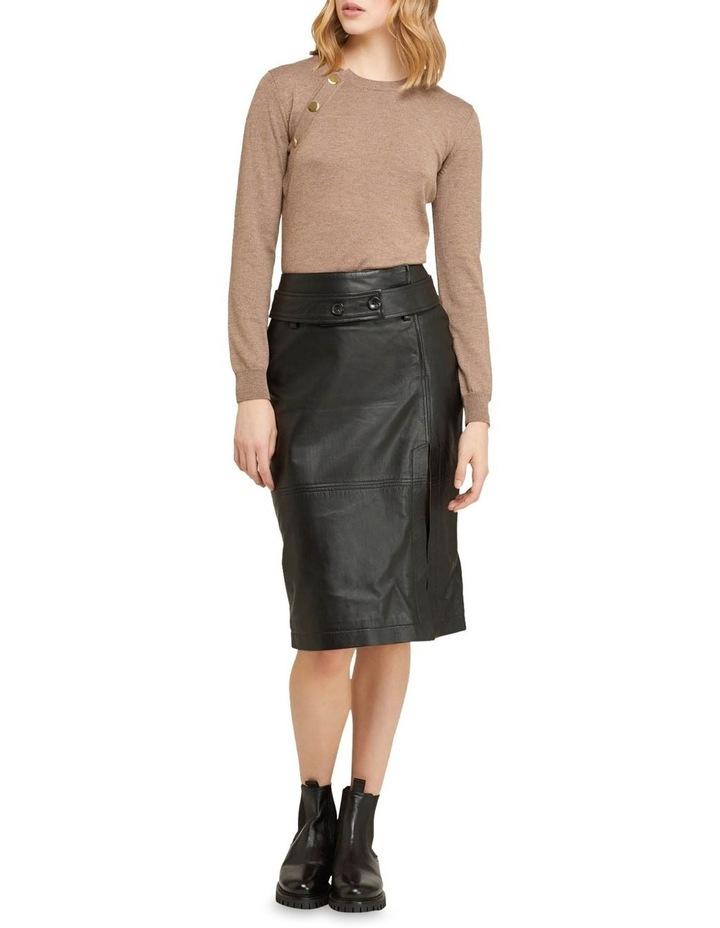 Regina Leather Belted Skirt With Removable Belt image 6