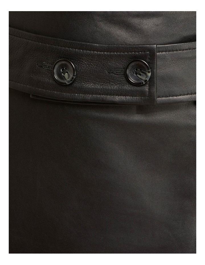 Regina Leather Belted Skirt With Removable Belt image 7