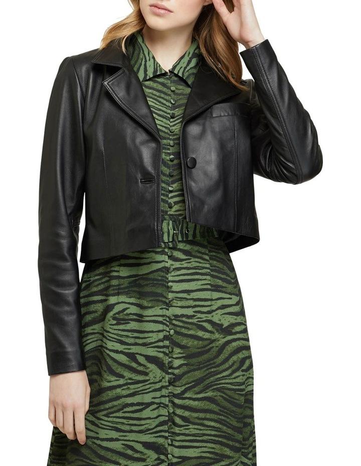 Blair Crop Leather Jacket image 1