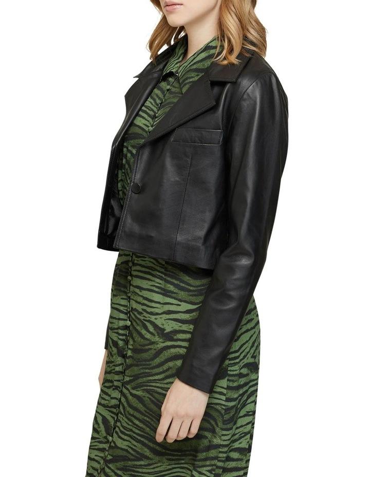 Blair Crop Leather Jacket image 2