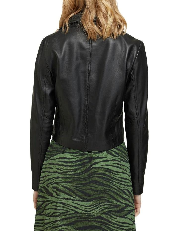 Blair Crop Leather Jacket image 3