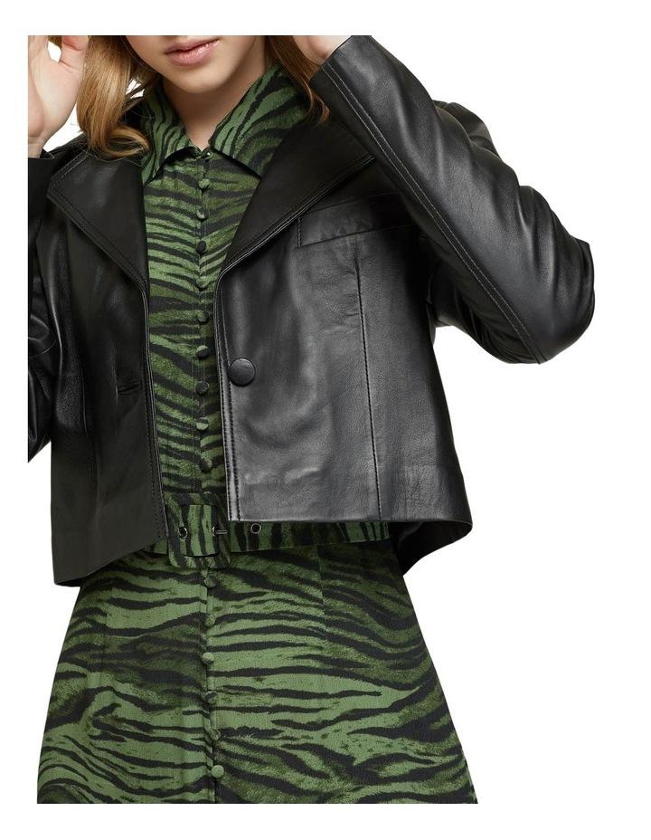 Blair Crop Leather Jacket image 4