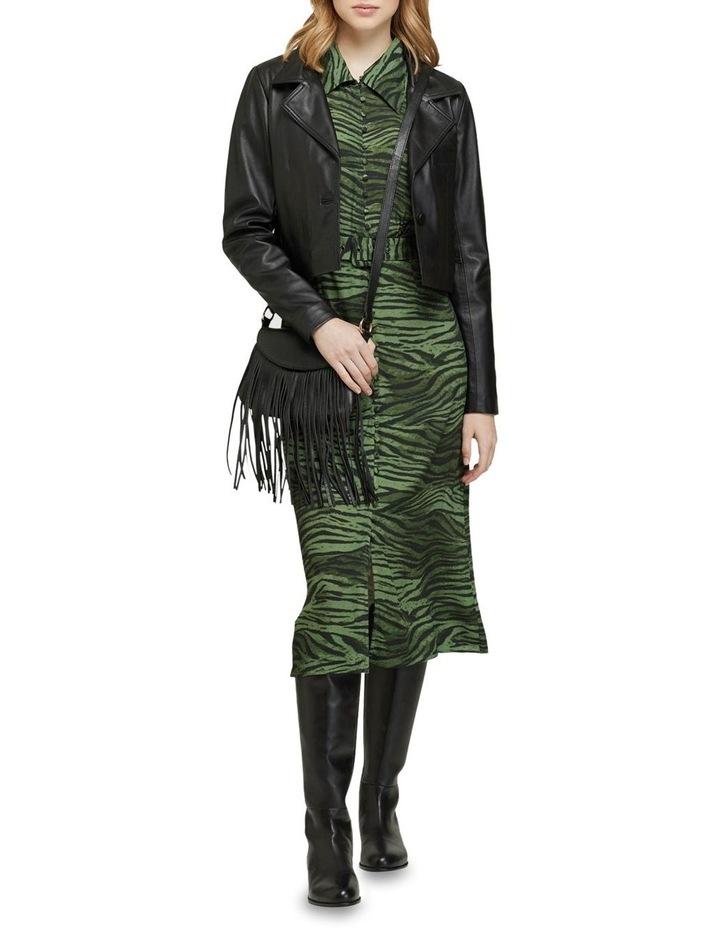 Blair Crop Leather Jacket image 5