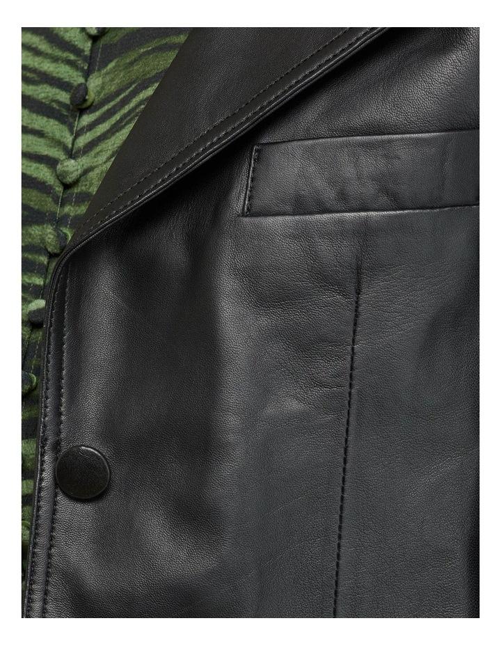 Blair Crop Leather Jacket image 6