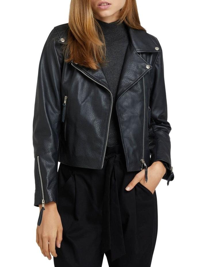 Sandy Textured Leather Jacket image 1