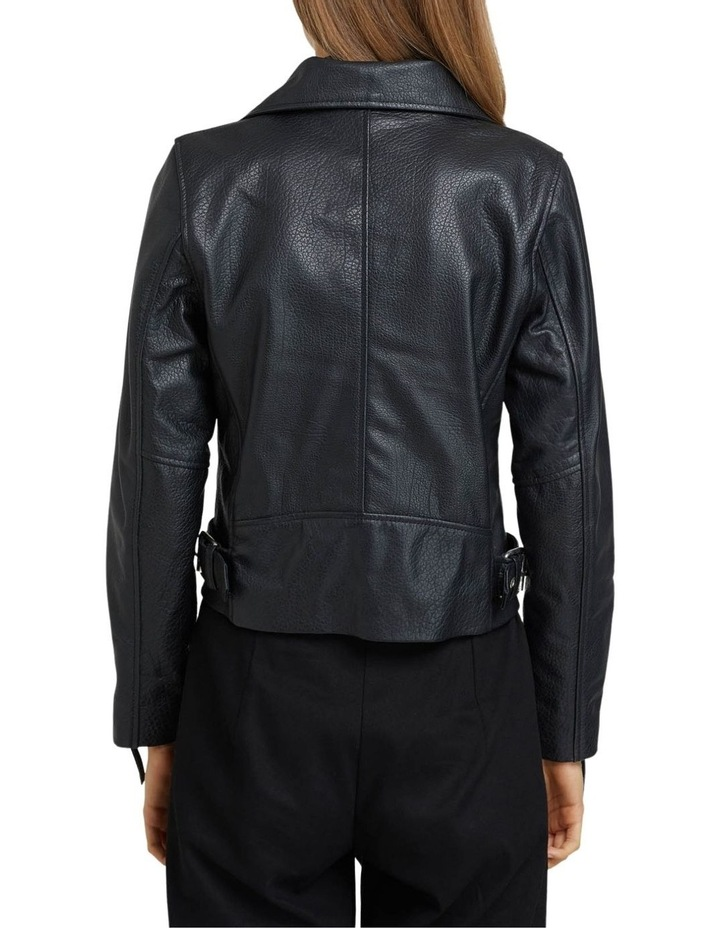 Sandy Textured Leather Jacket image 3