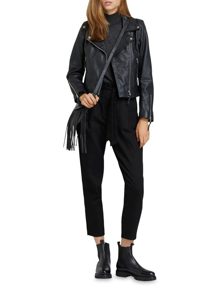 Sandy Textured Leather Jacket image 5