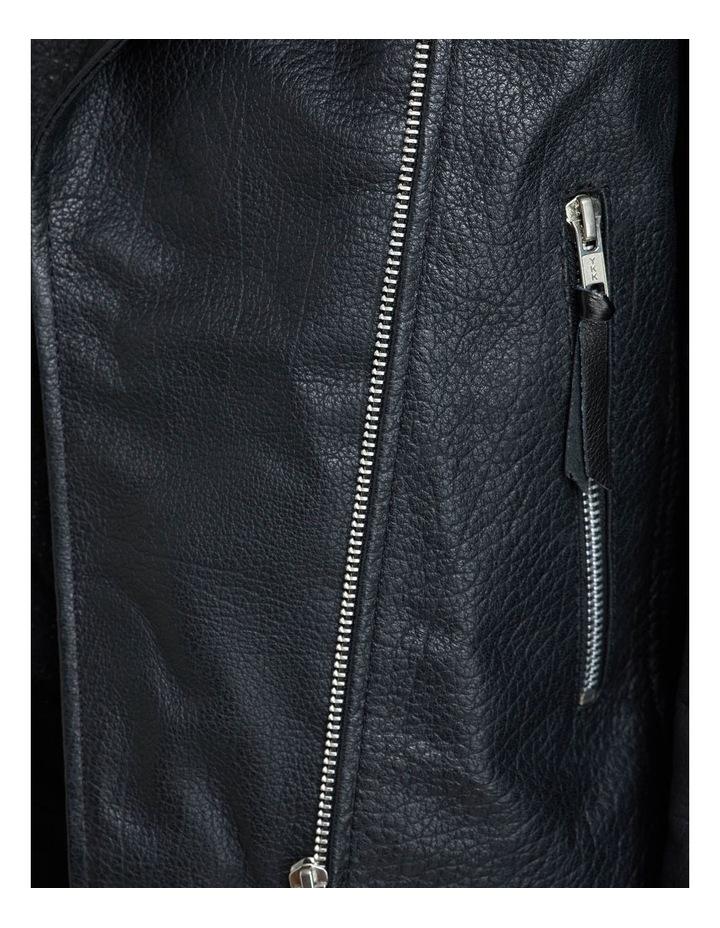 Sandy Textured Leather Jacket image 6