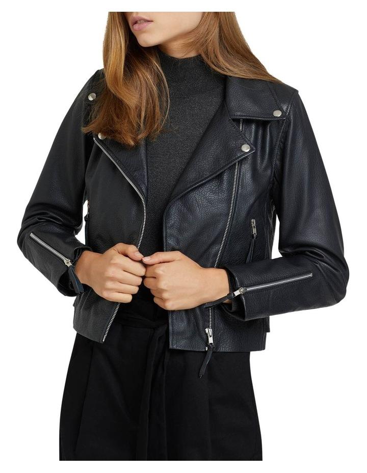 Sandy Textured Leather Jacket image 7