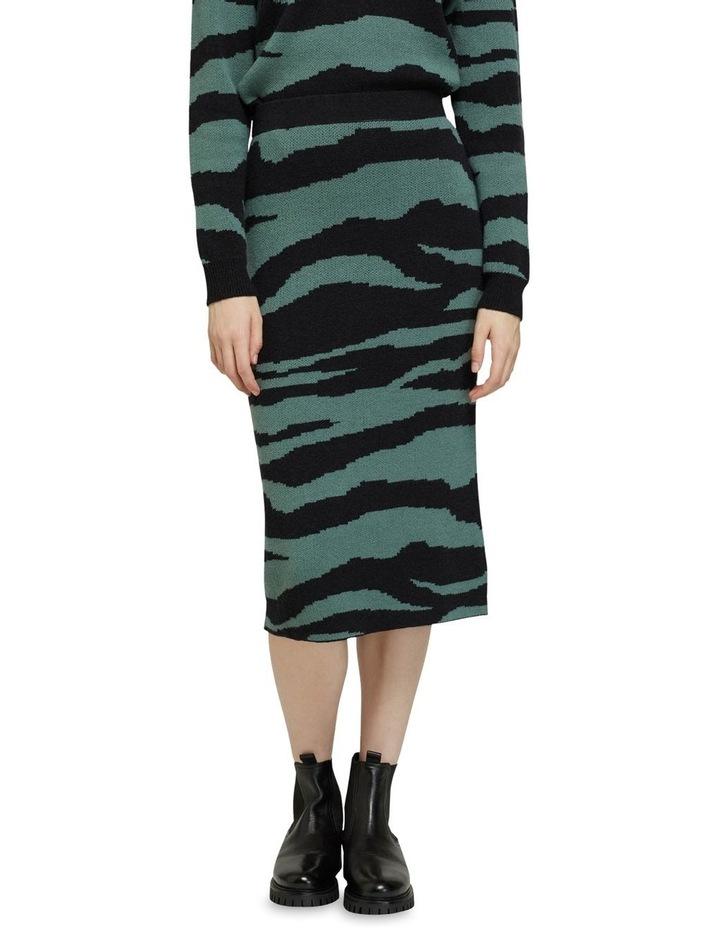 Katie Knitted Animal Print Skirt image 1