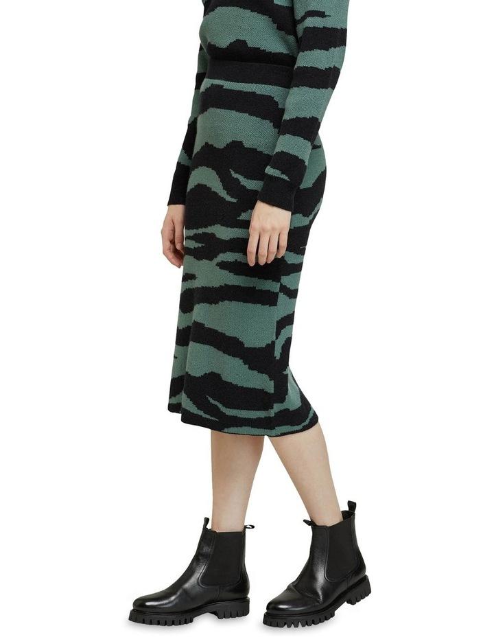Katie Knitted Animal Print Skirt image 2