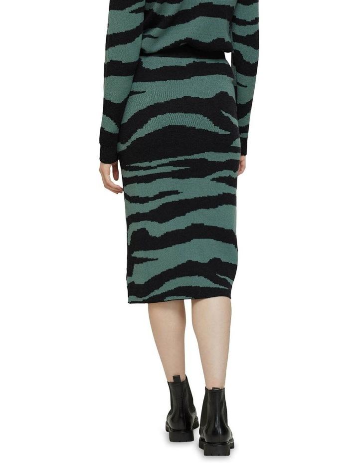Katie Knitted Animal Print Skirt image 3