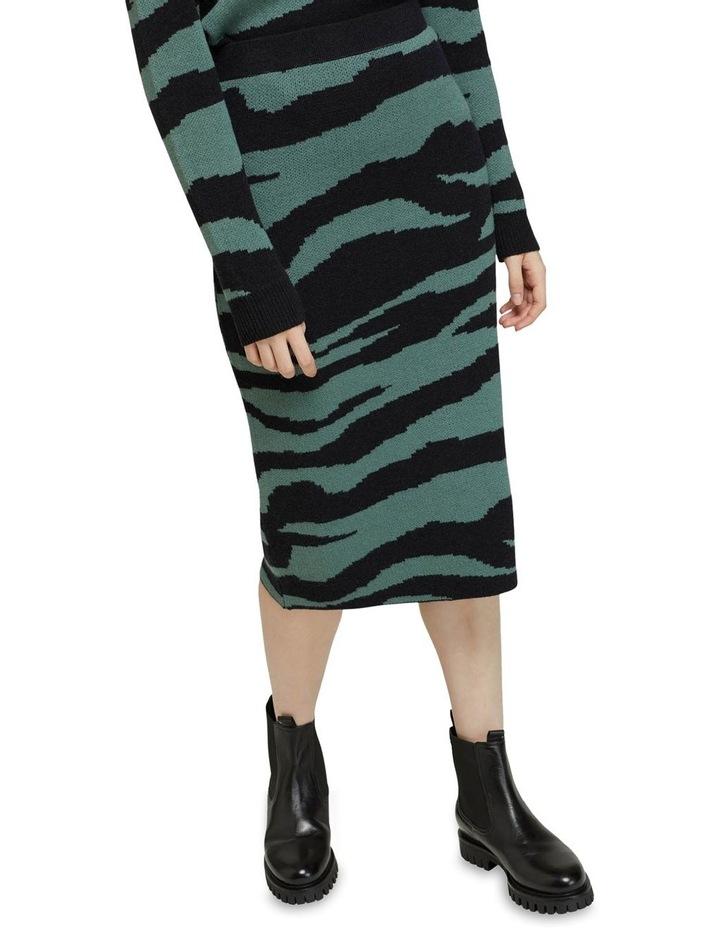 Katie Knitted Animal Print Skirt image 4