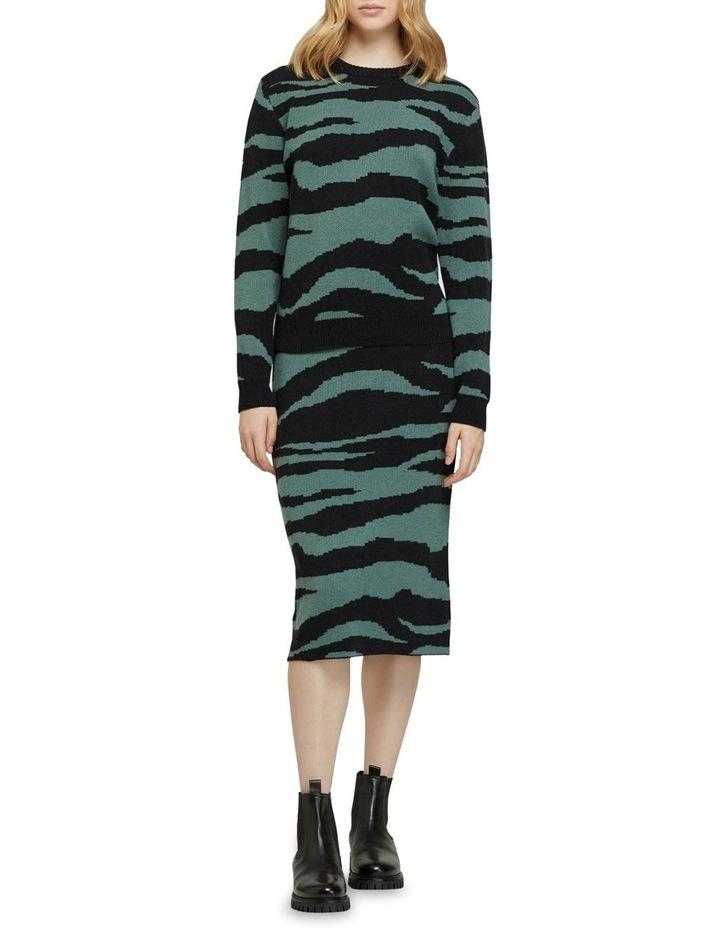 Katie Knitted Animal Print Skirt image 5