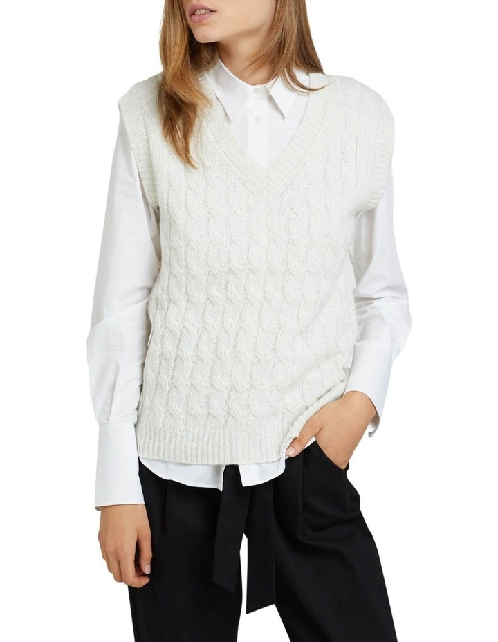 Imogen Cable Knit Vest image 1