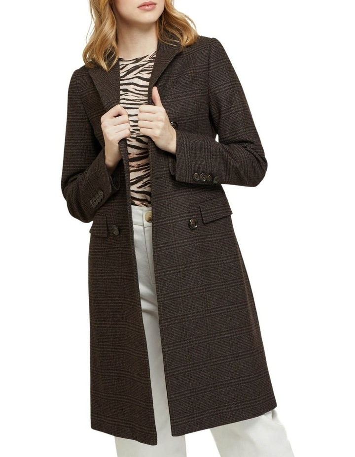Bexley Checked Wool Blend Coat image 4