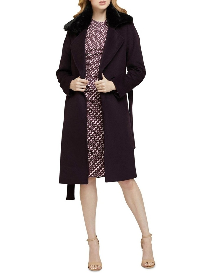 Fallon Detachable Fur Collar Coat image 5