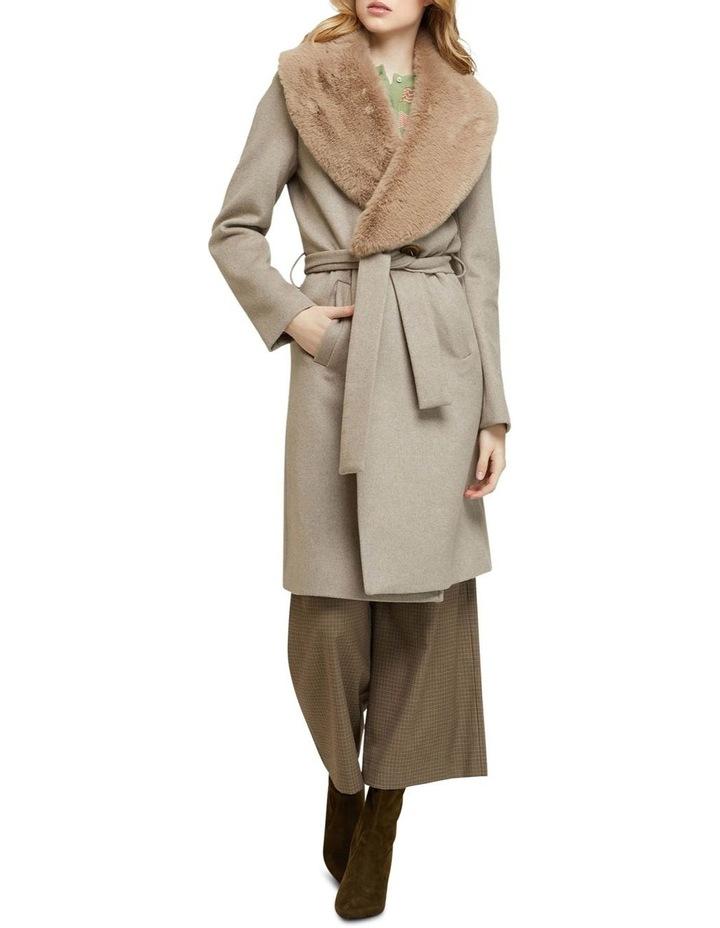Fallon Detachable Fur Lapel Coat image 1