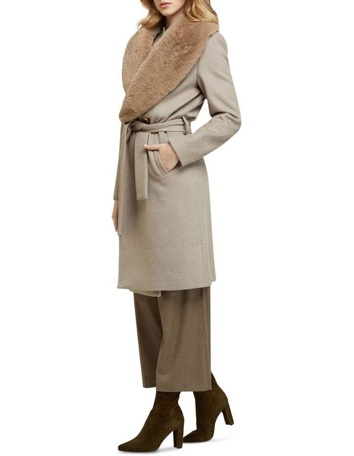 Fallon Detachable Fur Lapel Coat image 2