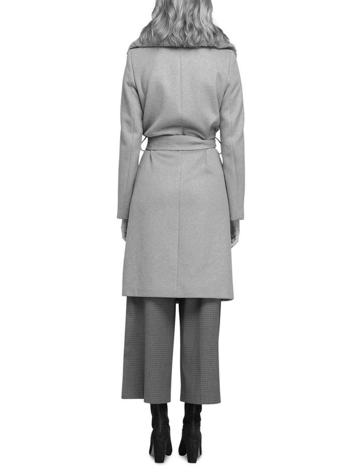 Fallon Detachable Fur Lapel Coat image 3