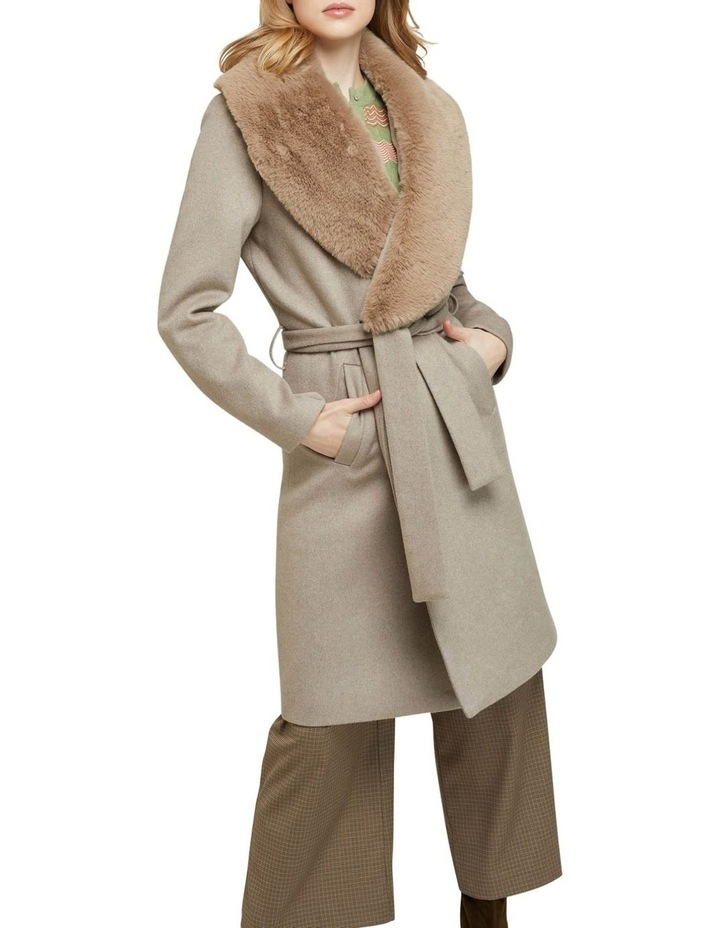 Fallon Detachable Fur Lapel Coat image 4