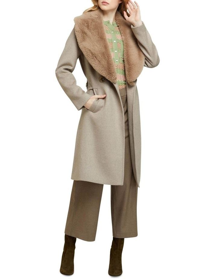 Fallon Detachable Fur Lapel Coat image 5