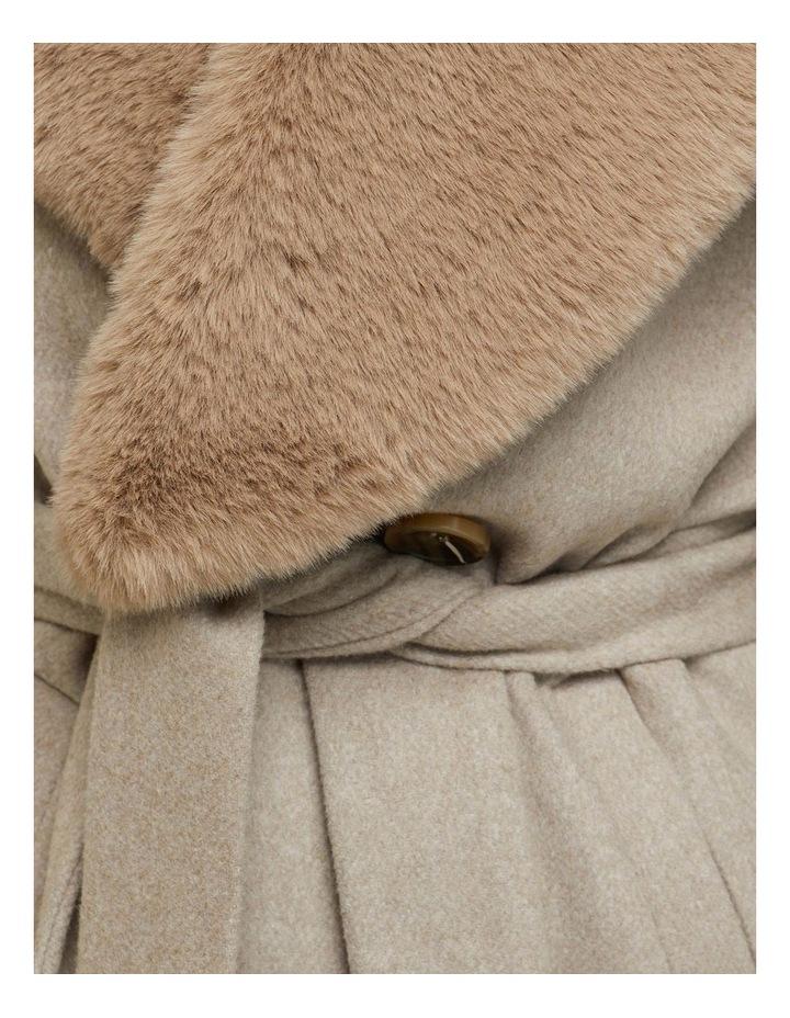 Fallon Detachable Fur Lapel Coat image 6