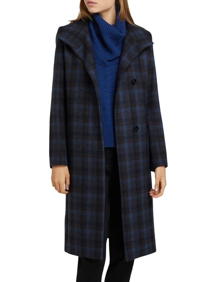 Olivia Checked Wool Blend Coat image 1