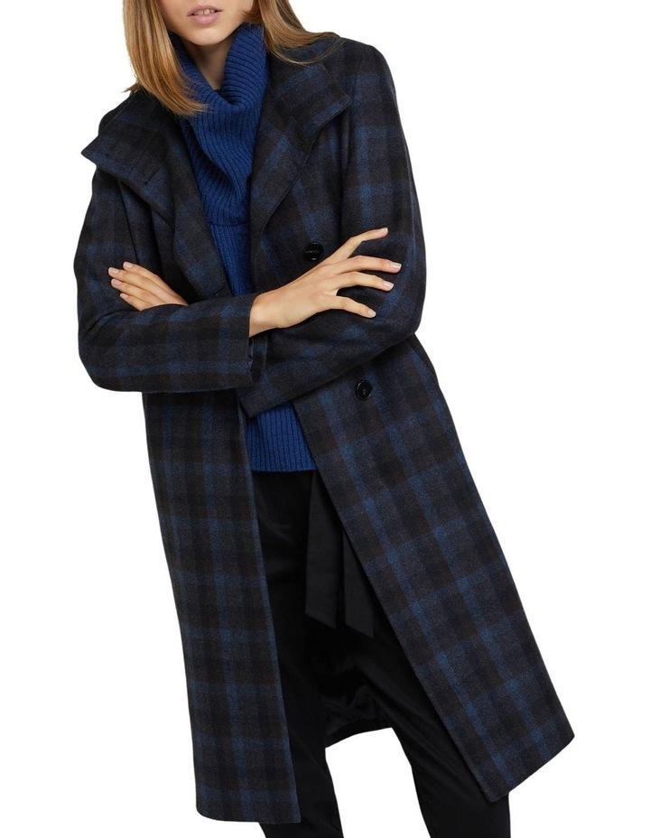 Olivia Checked Wool Blend Coat image 4