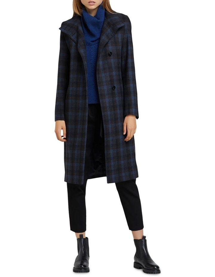 Olivia Checked Wool Blend Coat image 5