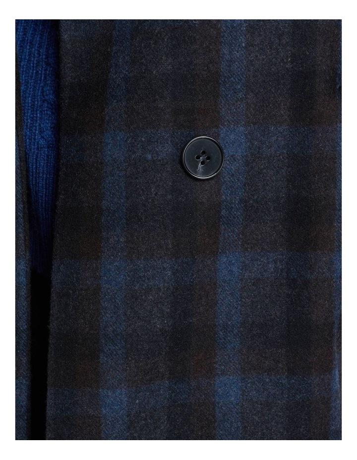 Olivia Checked Wool Blend Coat image 6