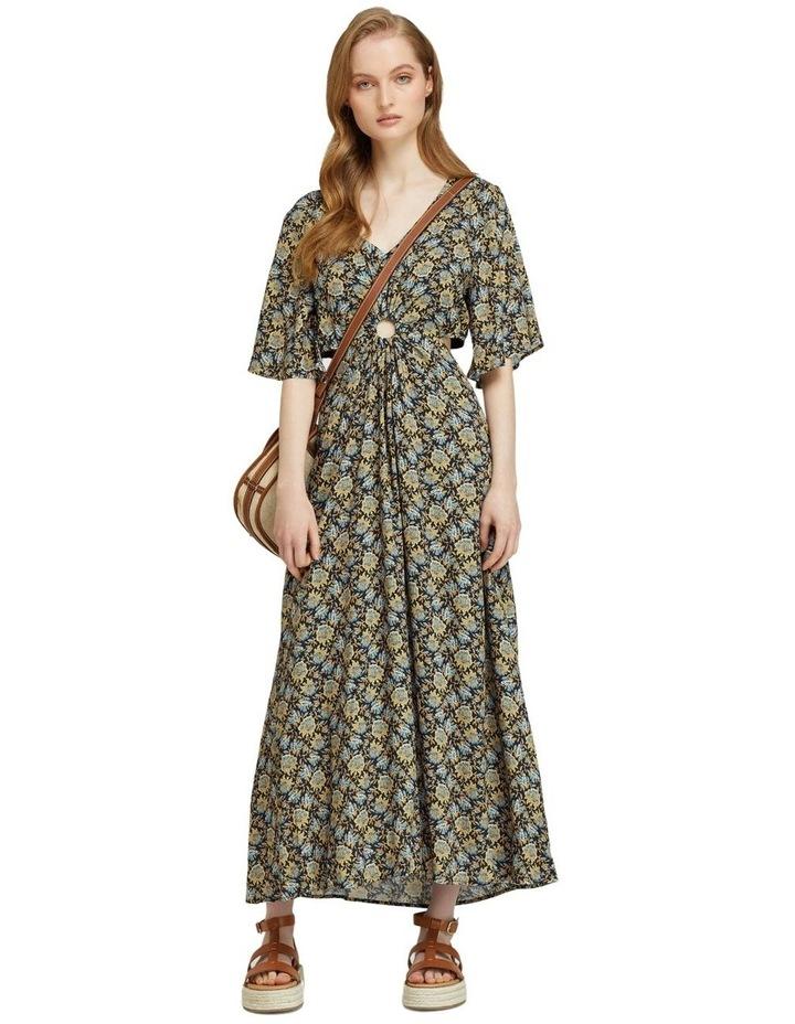 Florence Keyhole Maxi Floral Dress image 1