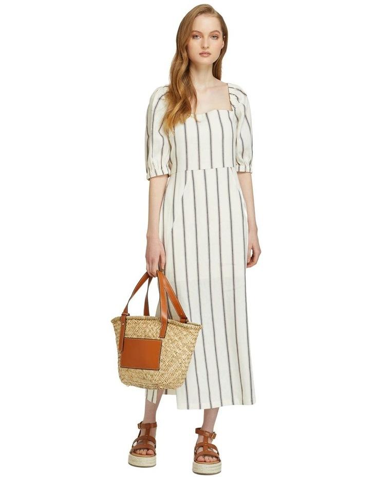 Max Striped Linen Blend Dress image 1