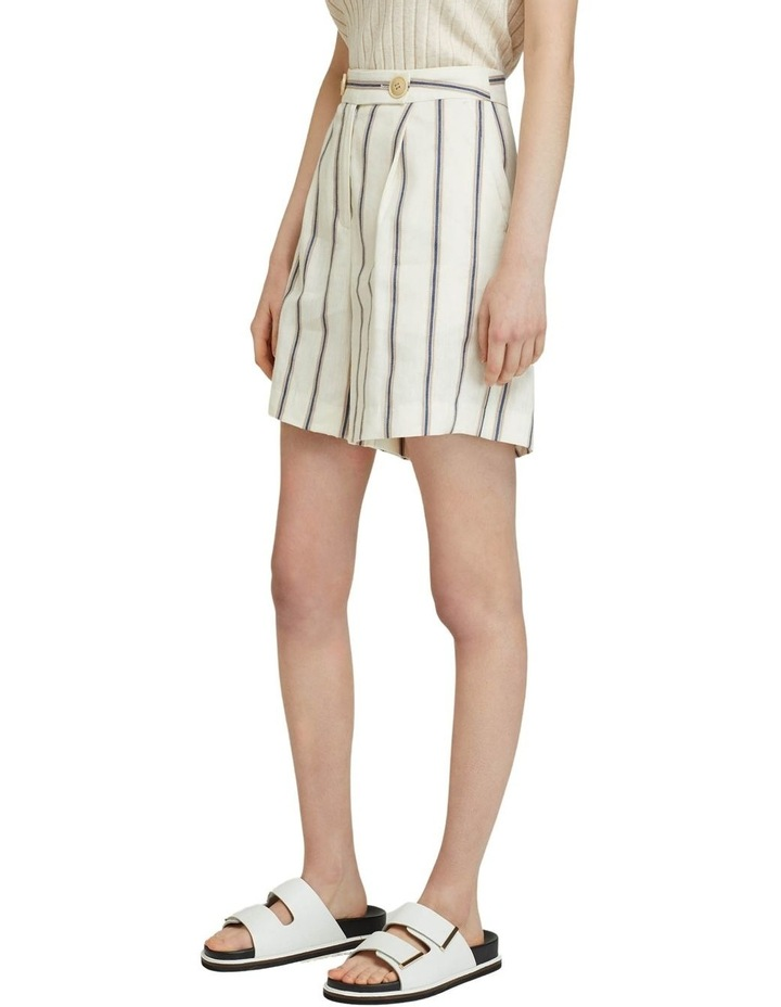 Sasha Striped Linen Blend Shorts image 2
