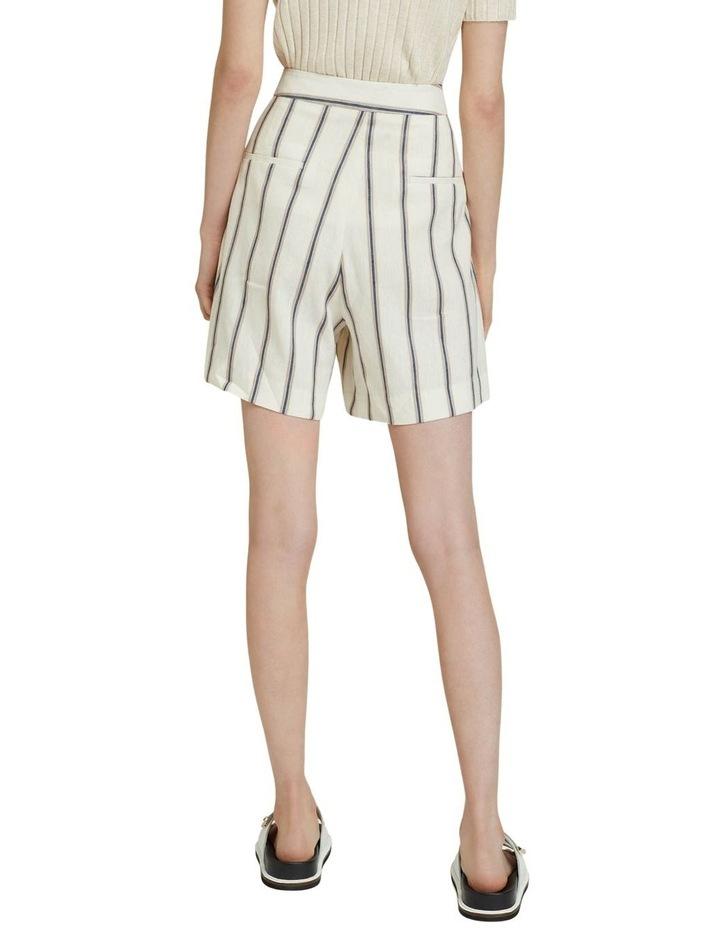 Sasha Striped Linen Blend Shorts image 3
