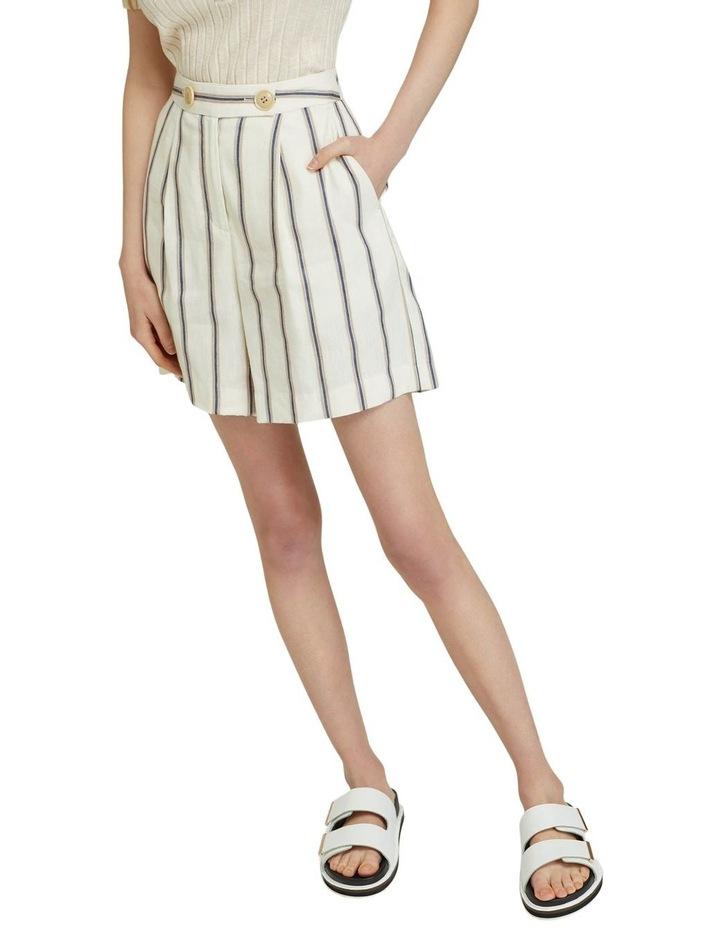 Sasha Striped Linen Blend Shorts image 4