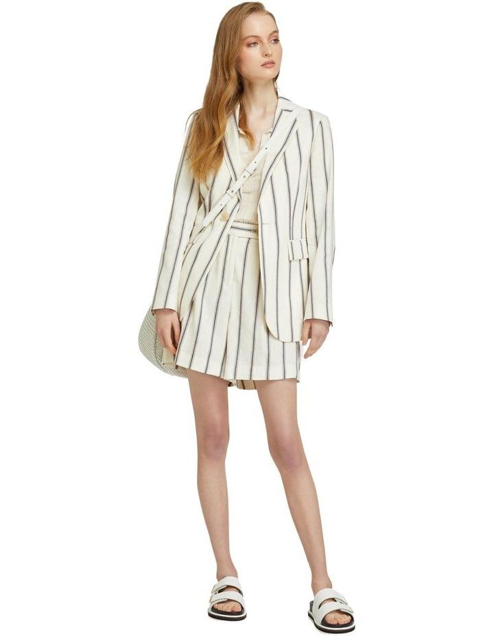 Sasha Striped Linen Blend Shorts image 5