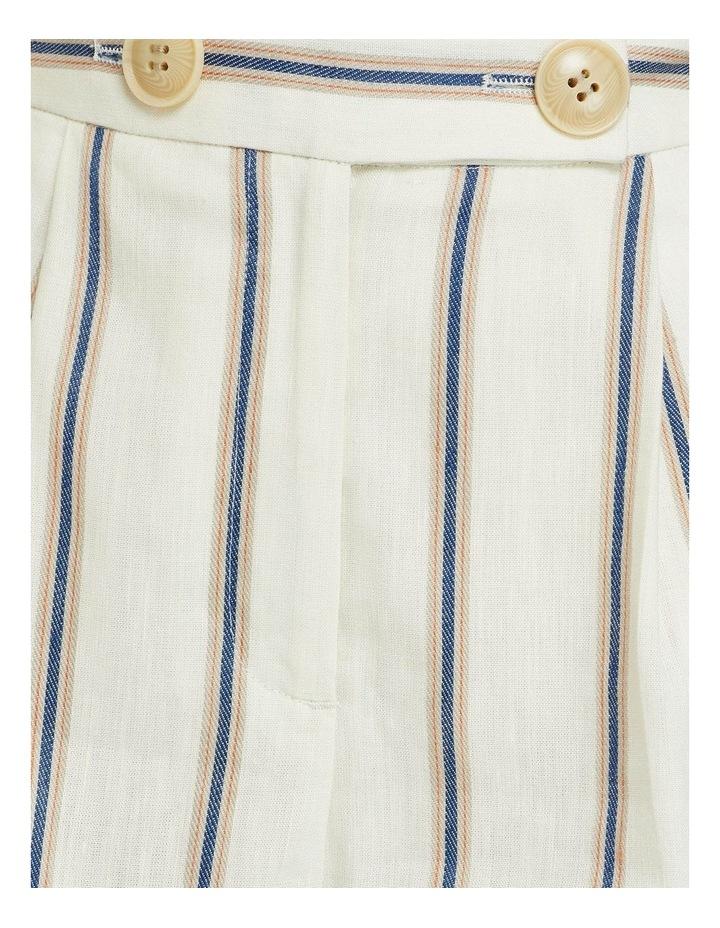 Sasha Striped Linen Blend Shorts image 6