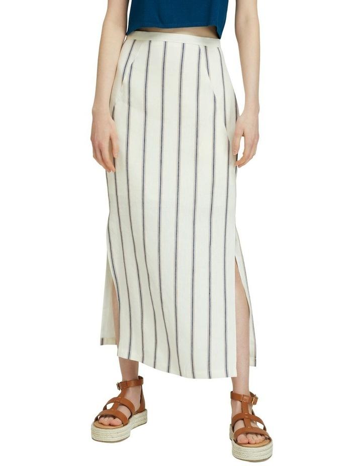 Mia Striped Linen Blend Skirt image 1